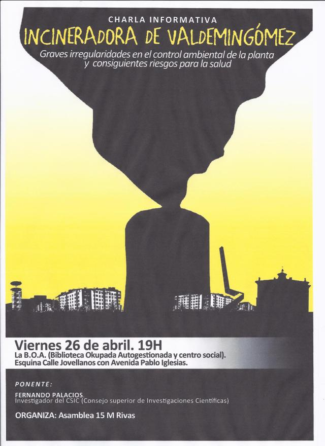 Cartel incineradora 15M Rivas