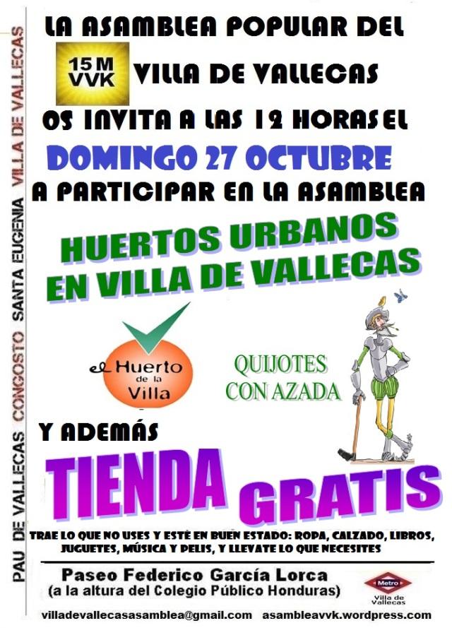 Cartel_Asamblea HUERTOS Y TIENDA_DOMINGO_27 Octubre 2013