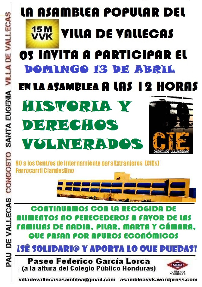 Cartel_Asamblea CIES_DOMINGO_13 Abril 2014