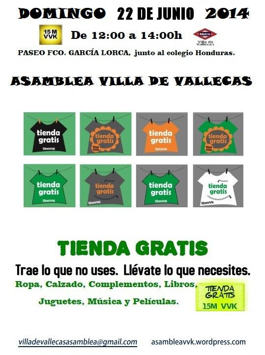 cartel-tienda-gratis-22 junio-2014