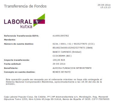 Pago Periodico 15M - Mayo 2014