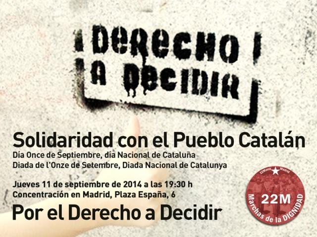 Cartel - Concentración Marchas 22M-Diada 2014