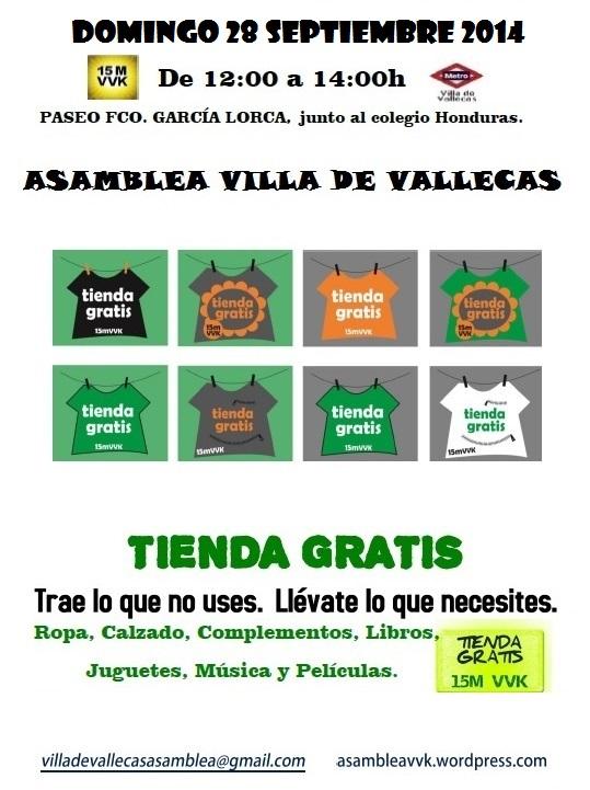 Cartel Tienda Gratis 28-SEPTIEMBRE-2014