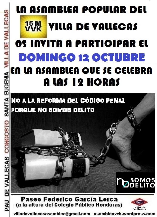 Cartel_Asamblea NOSOMOSDELITO_DOMINGO_12 Octubre 2014