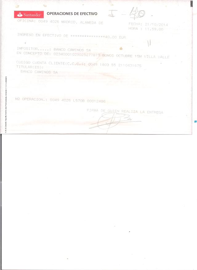Pago Bonos Periodico 15M octubre 2014