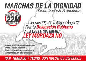 MarchasDignidad-27N-Madrid-LeyMordaza-DelegacionGobierno