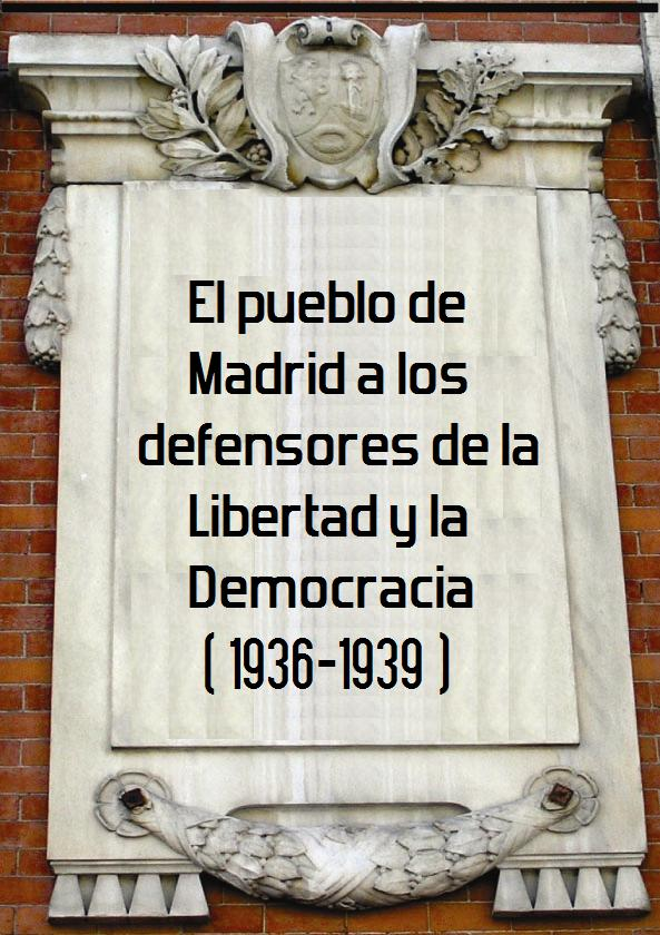 placa homenaje defensa de Madrid