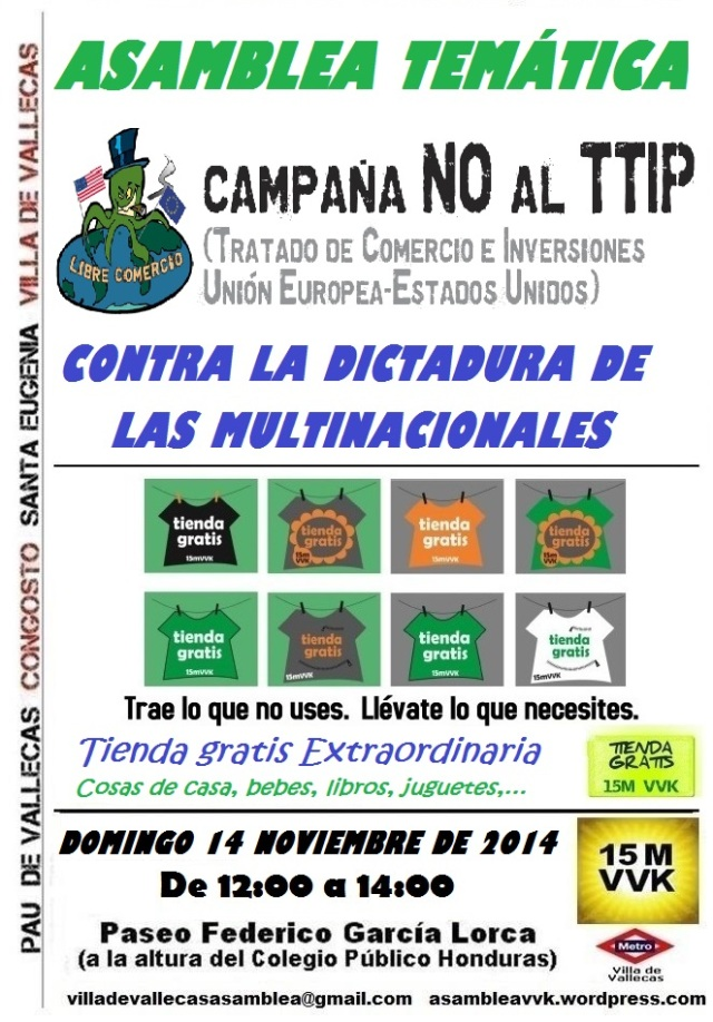 Cartel_Asamblea_DOMINGO_14 NOVIEMBRE 2014 TTIP +Tienda