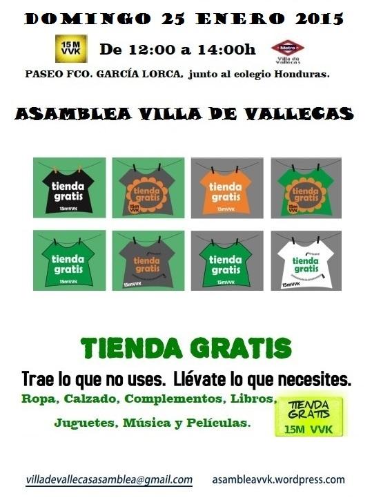 Cartel Tienda Gratis 25-ENERO-2015