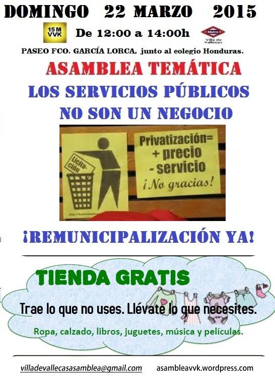 Cartel Domingo 22 Mar 15 Remunicipalización+Tienda
