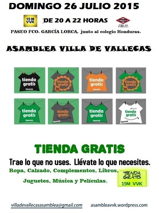 Cartel Tienda Gratis 26-JULIO-2015