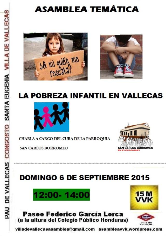 Cartel_Pobreza Infantil_DOMINGO_6 Septiembre 2015