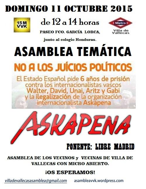 Cartel_Asamblea_DOMINGO_11 octubre 2015-Askapena