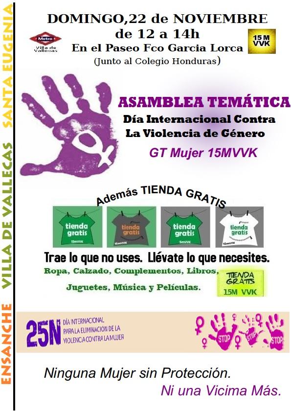 Cartel Asamblea Mujer 25N - Tienda 22-11-2015