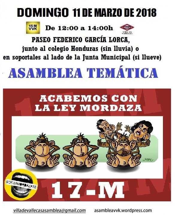 Cartel Domingo 11-MAR-018 Ley mordaza.jpg