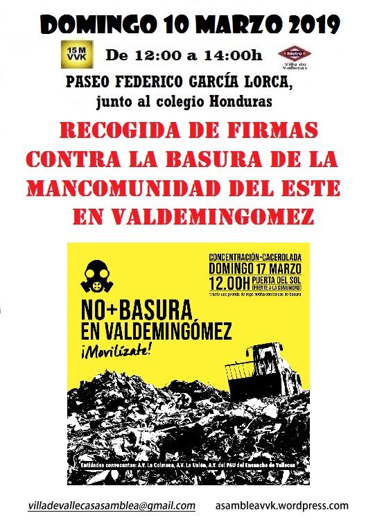 Cartel Domingo 10-MAR-19 BASURA VALDEMINGOMEZ
